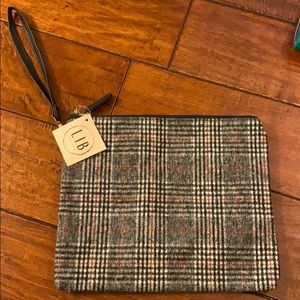 Plaid, flannel lined bag